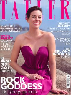 Liv Tyler in July 2010 Tatler